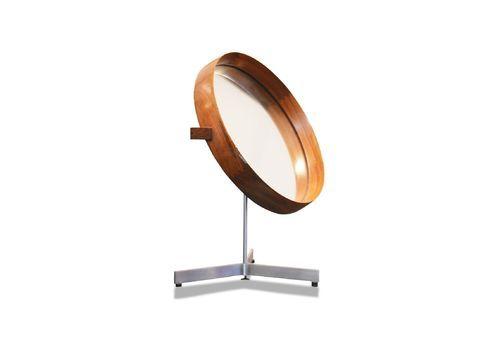 1960's Table Mirror By Uno & Osten Kristiansson For Luxus, Sweden.