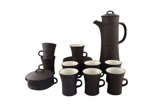 Jens H. Quistgaard, Denmark, Flamestone Coffee Service In Stoneware