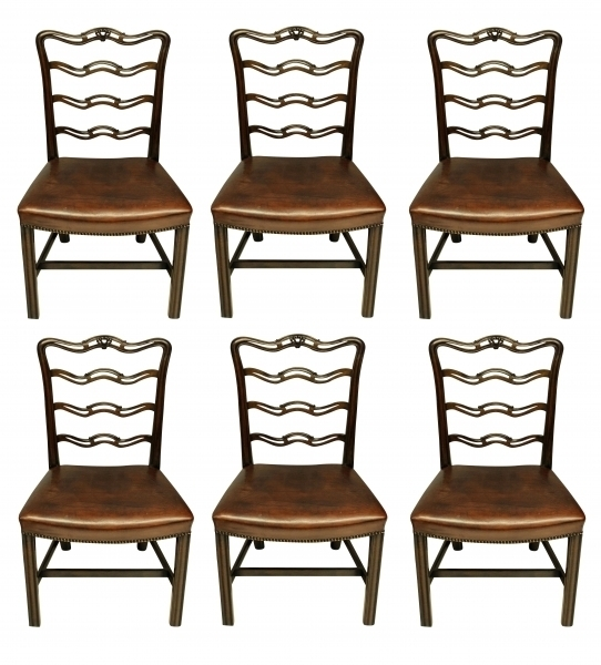 A Set Of Six George Iii Style Dining Chairs