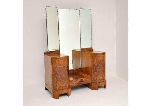 Art Deco 1920s Burr Walnut Dressing Table