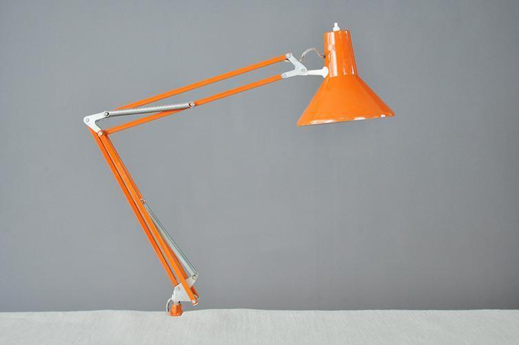 Adjustable Orange Desk Lamp photo 1