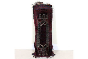 Thumb vintage afghan belouch sack rug bag wool persian carpet 1940s 0