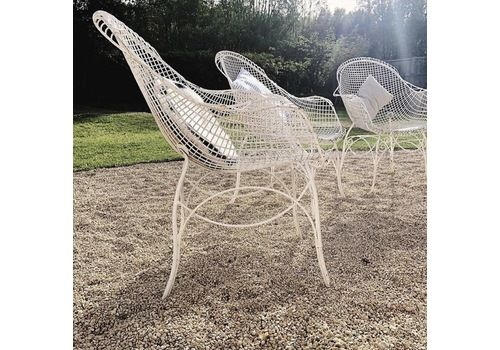1960s French Painted Wire Chairs