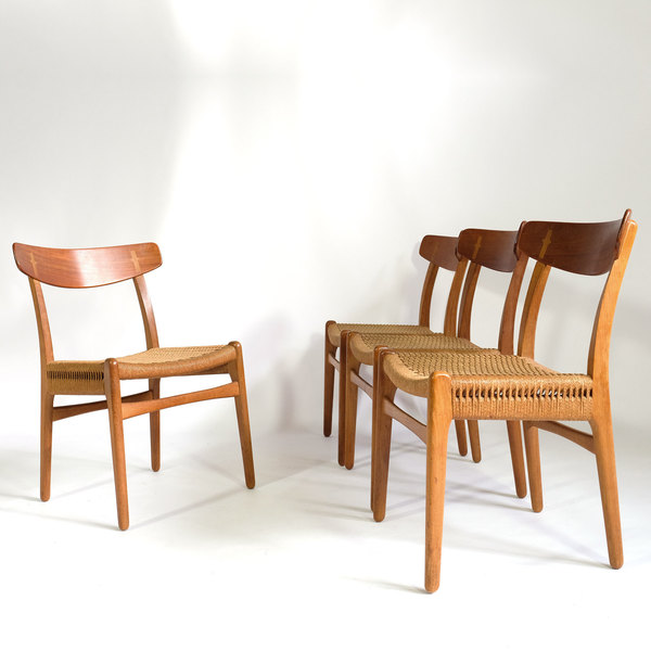 Set Of Four Ch23 Chairs Published By Carl Hanson And Son, 1950's