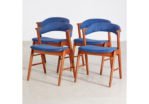 Teak Model 32 Armchairs By Kai Kristiansen For Korup Stolefabrik, 1960s, Set Of 2