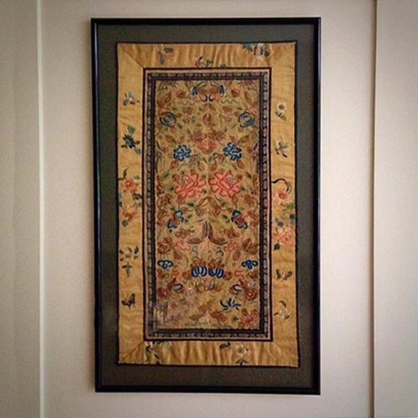 19th Century Silk Panel photo 1