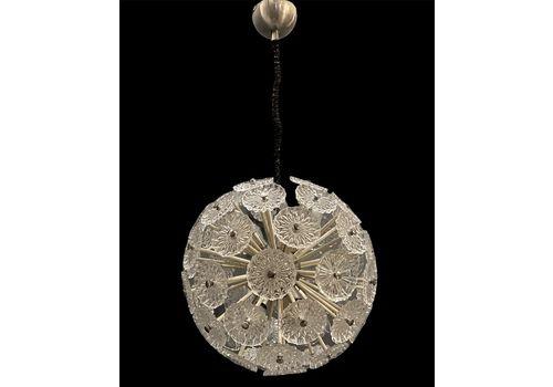 Midcentury Sputnik Glass Chandelier