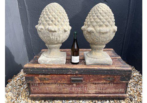Country House Entrance Garden Gate Stone Acorn Finials
