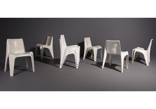White Ba1171 Chairs By Helmut Batzner For Bofinger