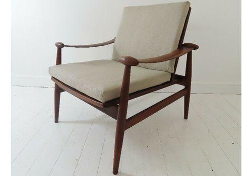 Stunning Vintage Danish Teak France & Son Finn Juhl Spade Lounge Chair