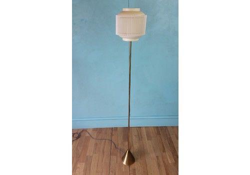 Mid Century Brass Floor Lamp