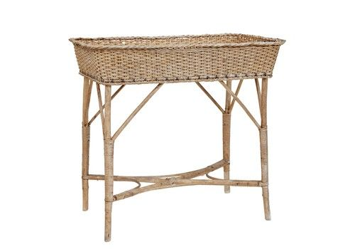 Early 20th Century Woven Cane Work Jardinere Stand