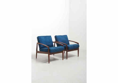A Pair Of 'Paper Knife' Easy Chairs   Kai Kristiansen