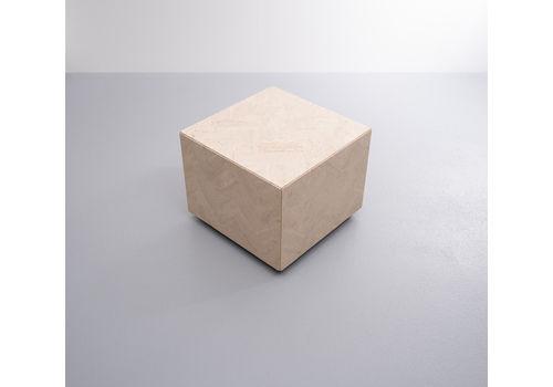 Square Travertine Cube On Wheels