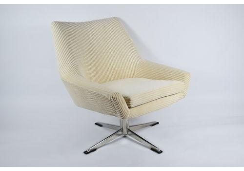 "Original Restored Armchair ""Shell"" Germany, 60s, Cord Fabric"