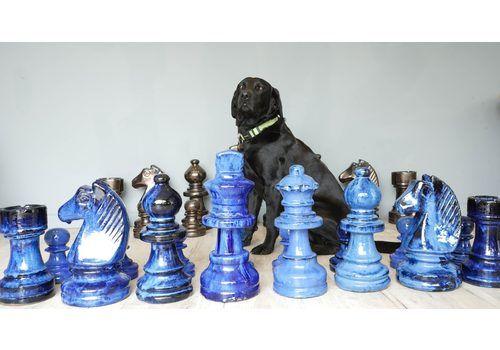Giant Terracotta Garden Chess Set