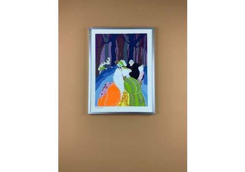 Endré Passano Art Deco Style Limited Edition Lithograph Painting 1/2