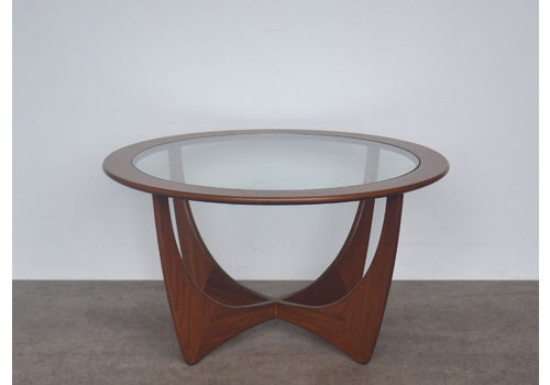 Original Vintage Retro Mid Century Astro Teak And Glass G Plan Circular Coffee Table By Victor Wilkins