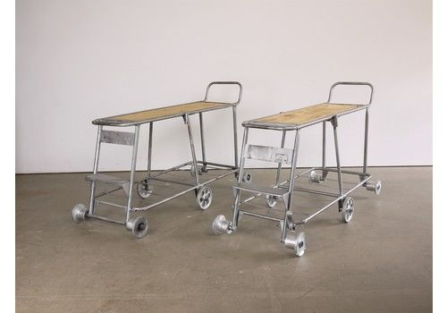 1960's Nursery  Industrial Trolley Console/Occasional Table/Shelving    Special Edition