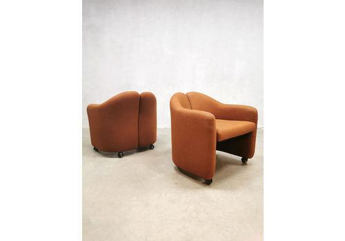 Midcentury Italian Design Easy Chairs Ps142