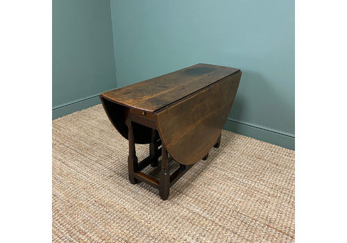 17th Century Country Oak Antique Gate Leg Table