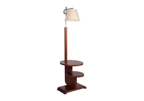Lamp Walnut Veneer Chromed Metal Italy 1930s 1940s