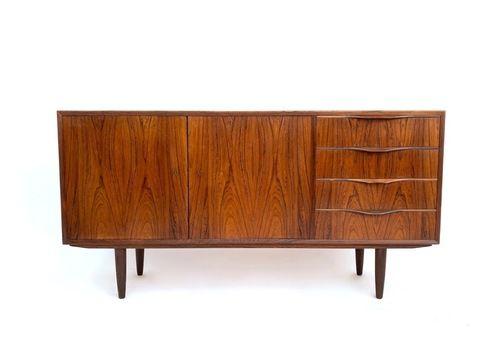 Danish Erling Torvits For Klim Møbelfabrik Rosewood Sideboard Mid Century 1960s