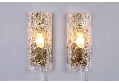 Wall Lights By Carl Fagerlund For Orrefors, 1960s, Set Of 2