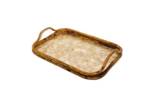 Large Mother Of Pearl Tray   Bamboo