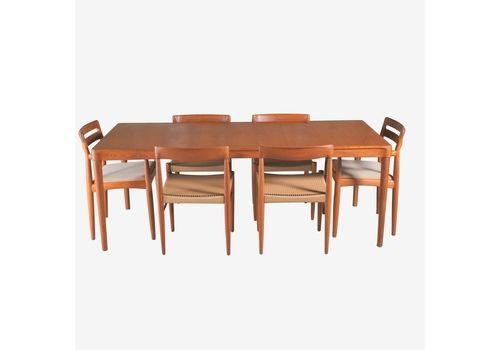 Danish Midcentury Teak Dining Suite By Hw Klein For Bramin C1970