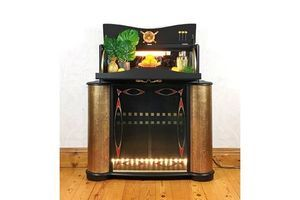 Thumb cocktail cabinet 1960s mid century home bar black and gold 0