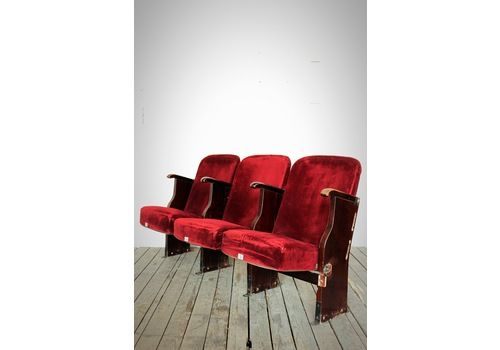 Vintage Folding Cinema Theatre Seats Bench Chairs 1950 2 Sets Of 2 3 Or 4