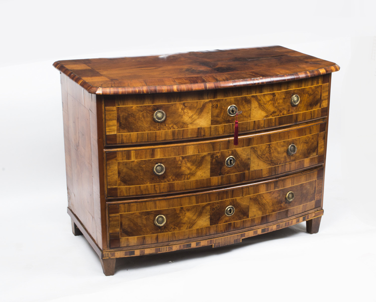Antique South German Walnut Chest Commode C.1760
