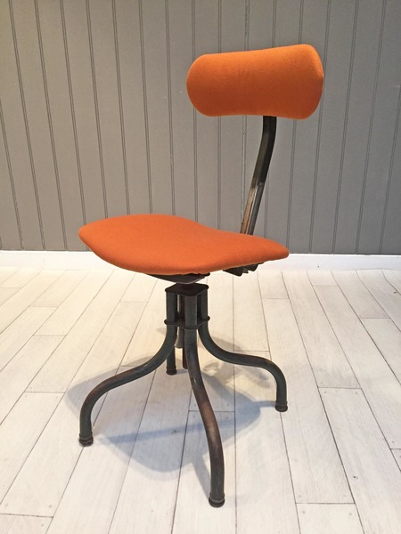 Newly Upholstered Factory Chair