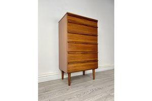 Thumb midcentury teak tallboy chest of drawers 1970s avalon 0