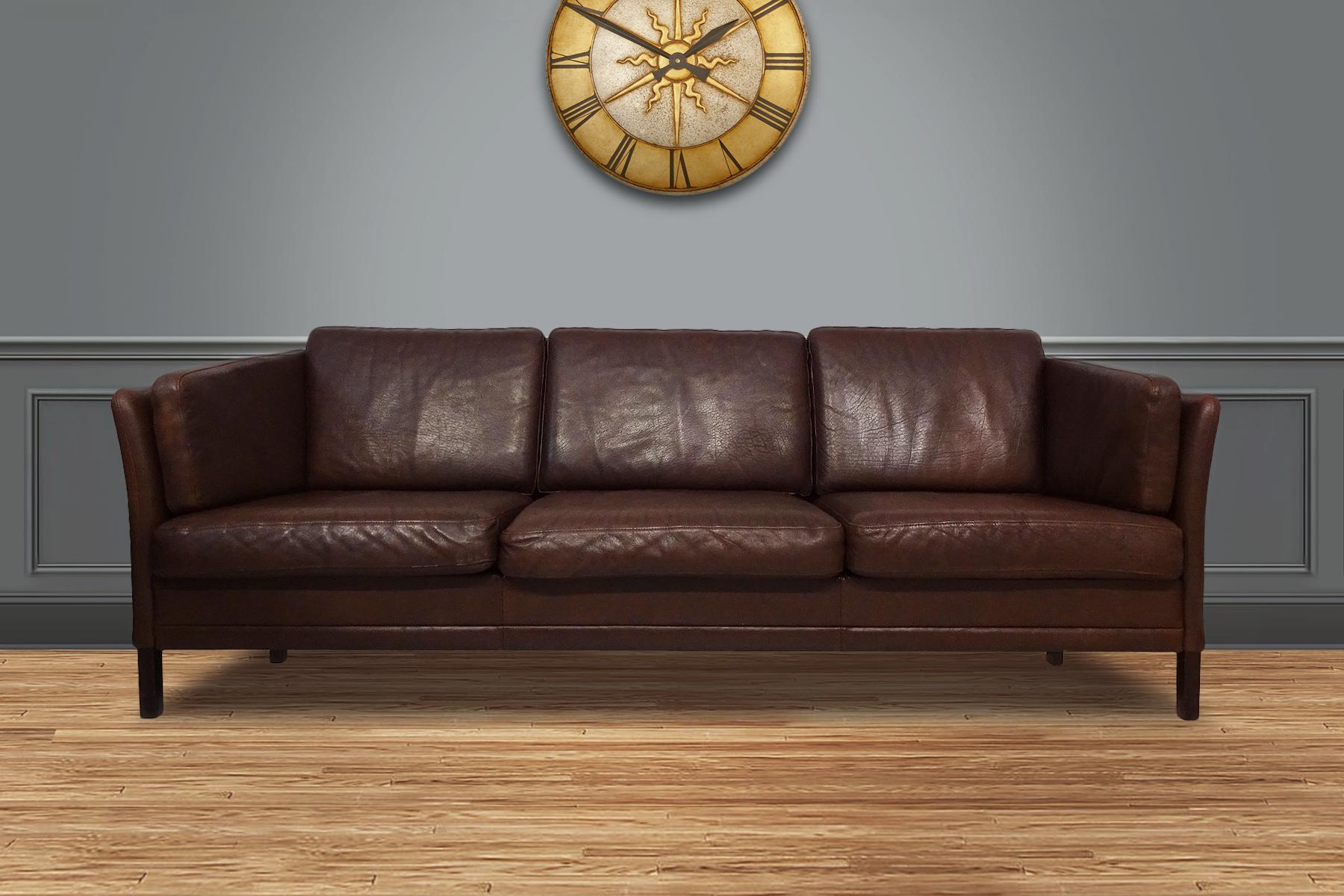 Phenomenal Danish Mid Century 3 Person Sofa By Mogens Hansen Ncnpc Chair Design For Home Ncnpcorg
