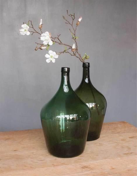 Vintage Green Bottle Vase