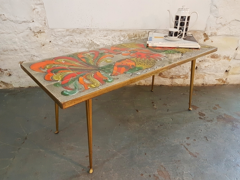 1950's Stunning French Tiled Table