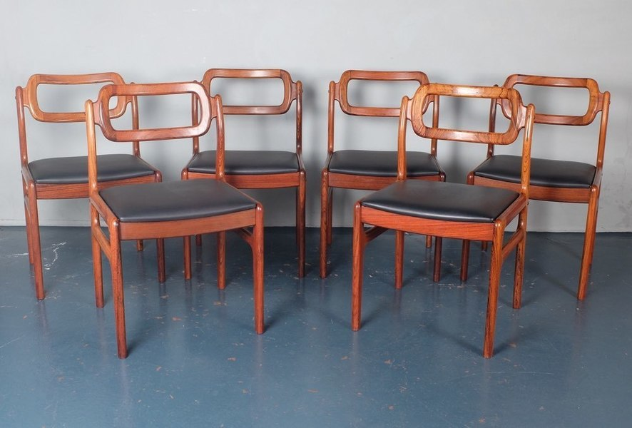 Set Of Six Johannes Andersen Rosewood Dining Chairs photo 1