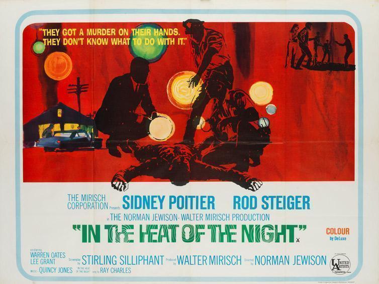 In The Heat Of The Night Film / Movie Poster Original Vintage 1967 Uk