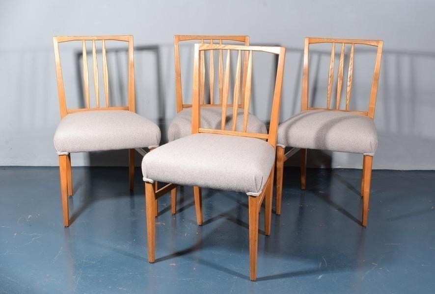 Set Of 4 Gordon Russell Dining Chairs