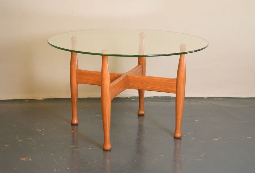 Rosewood And Glass Coffee Table photo 1