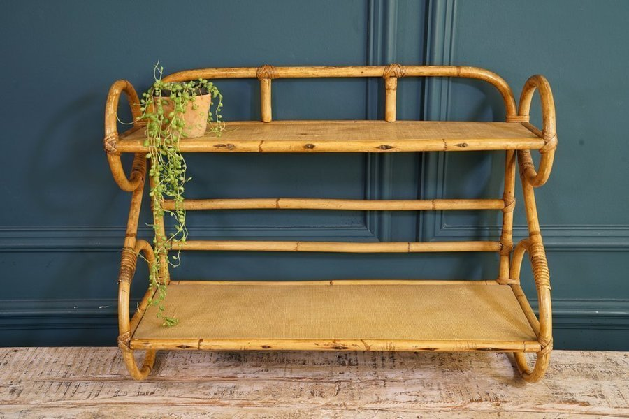 Bamboo And Wood Shelving Unit
