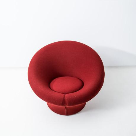 Red Pierre Paulin Mushroom Chair   20% Off Sale