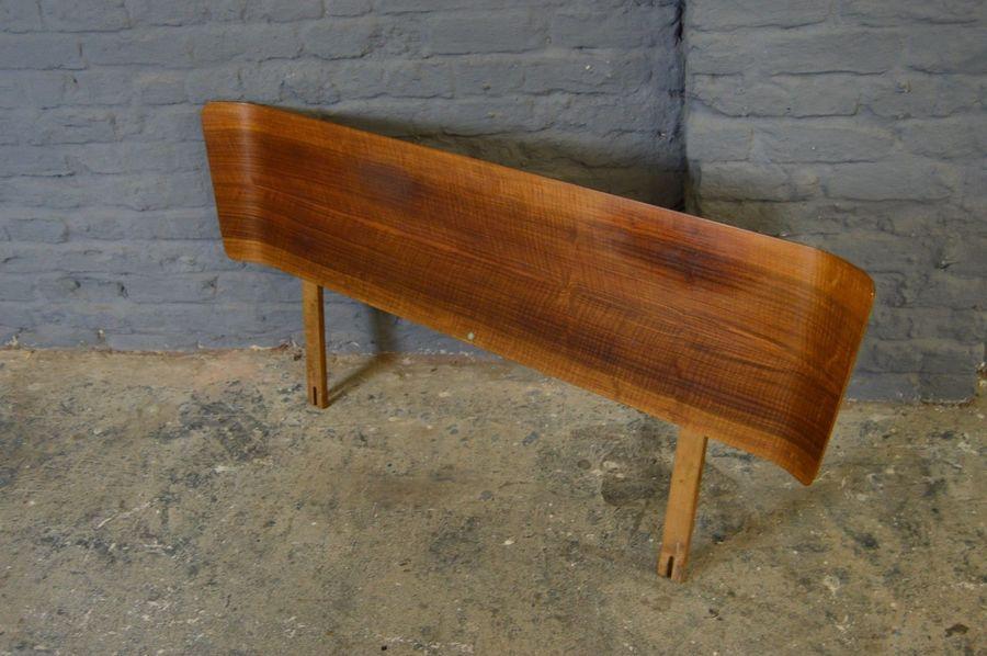 Retro Vintage Mid Century Myer Walnut Double Bed Headboard