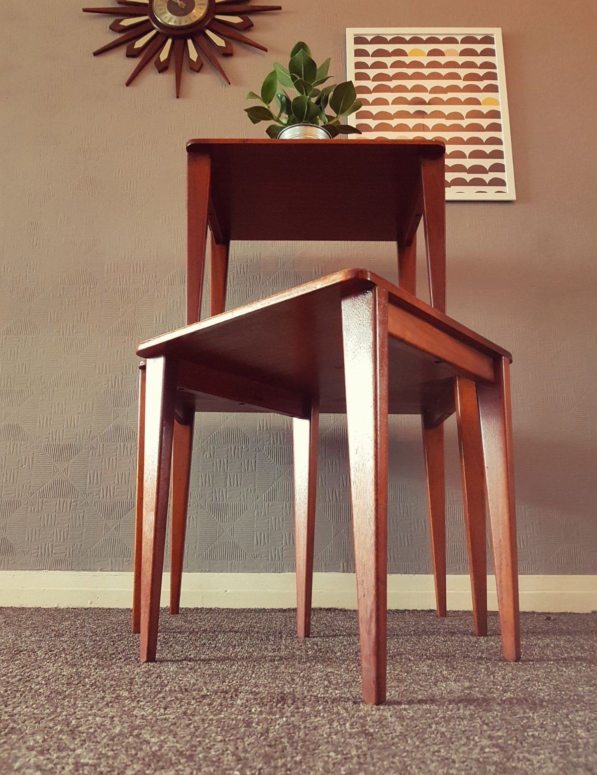 Mid Century 1960 S Teak Gordon Russell Nest Of Tables Retro G Plan