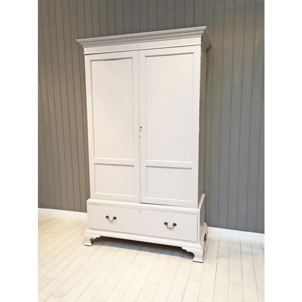 Mahogany Wardrobe In French Grey