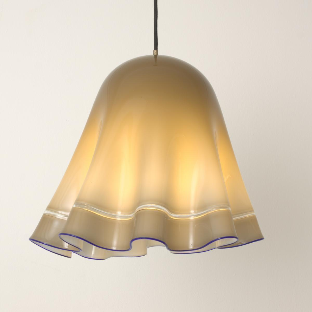 Tap And Hold To Zoom Image Vintage Grey Blue Murano Gl Pendant Lamp