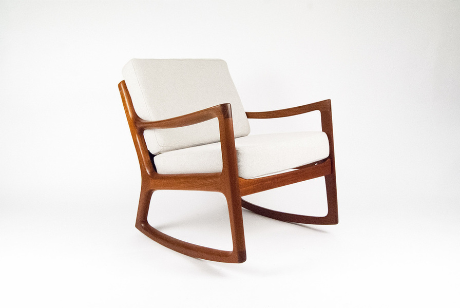 Ole Wanscher For Cado Senator Rocking Chair