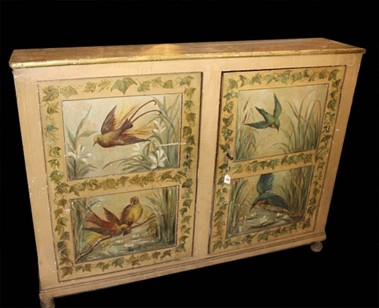 Decorative French Hand Painted Buffet